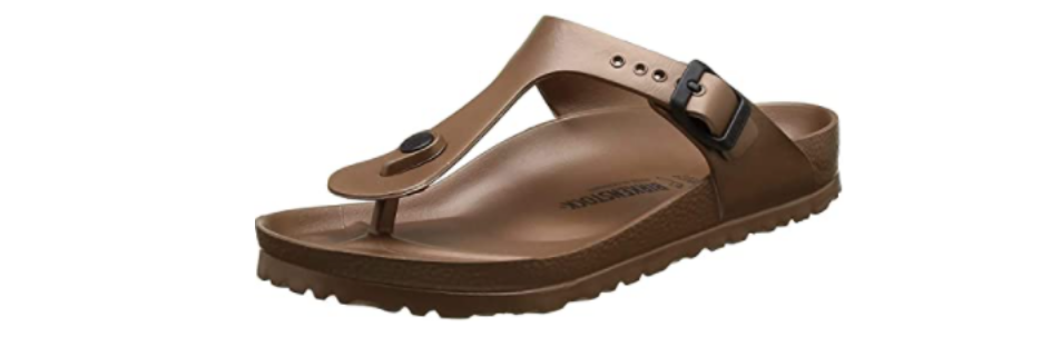The usual Birkenstock support now comes in flip flop form. (Photo: Amazon)