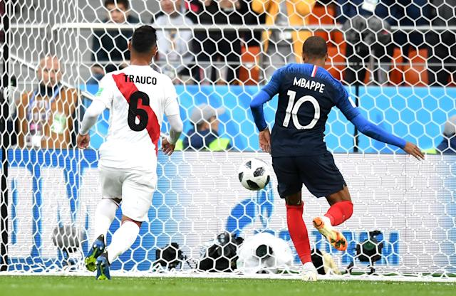 His moment: Mbappe becomes France's youngest ever scorer at a World Cup