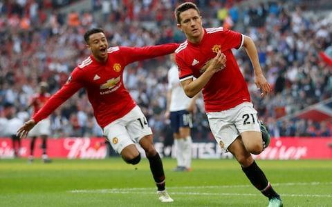"""Ander Herrera has heard all the talk about Manchester United's style of play but he would rather deal in cold, hard facts when asked to assess where they are as a club at the moment under Jose Mourinho. """"I think we are going in the right direction,"""" the United midfielder said. """"Let's put everything in perspective. Two years ago, we were fifth in the Premier League and FA Cup winners. Last season we won three trophies [the Europa League, League Cup and Community Shield] and were sixth in the league. This season - second in the league and we can win a trophy, the FA Cup. """"We should have an obligation to ourselves to do more, but I cannot say we are going down. After Sir Alex Ferguson, we've had four years of transition and now I think the club is going up with this manager. """"This club is about winning titles and reaching finals and this will be my fifth final in two years. If you talk with other football players, they would like to be in our position."""" Herrera will make it five out of five if United beat Chelsea in the FA Cup final tomorrow evening. Regardless of what happens at Wembley, though, he is aware that the club's season could be framed by Manchester City's runaway title success and the prospect of a sixth European Cup win for Liverpool should the Merseysiders beat Real Madrid in Kiev next week. Herrera scored in Manchester United's semi-final win over Spurs Credit: reuters """"If any player in the world tells you he doesn't care about what the opponents do he is lying to you,"""" Herrera said. """"I cannot lie to you - if I could choose at the beginning of the season who wins the Premier League and who wins the Champions League, if we couldn't be champions, I wouldn't tell you Manchester City and Liverpool. I respect them - I have never hated anyone - but I cannot lie."""" United finished 19 points behind City, who racked up a century of points, but Herrera considers it an outlier. """"I don't think the Premier League is going to be like it was this season always,"""" he said"""