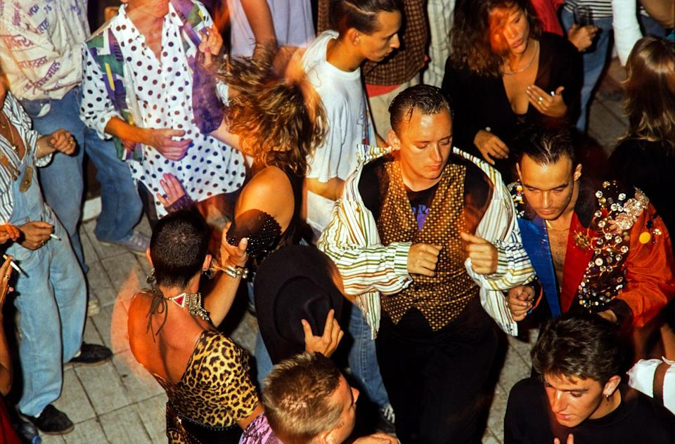 <p>Ibiza 89 Amnesia Boy George on Dancefloor</p> (Dave Swindells )