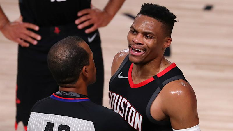 Westbrook on shouting match with Rondo's brother: You're supposed to shut up and watch the game