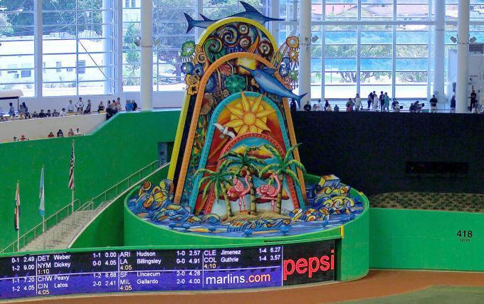 The Marlins Park home-run sculpture might be no more once Derek Jeter takes over the Marlins. (AP)