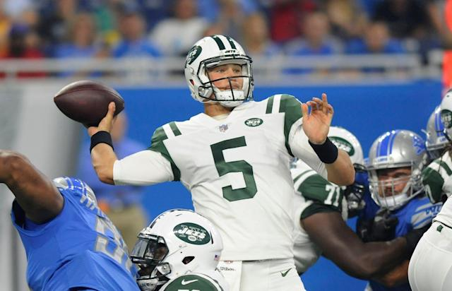 Former New York Jets QB Christian Hackenberg was clearly GM Mike Maccagnan's worst draft pick. (AP)