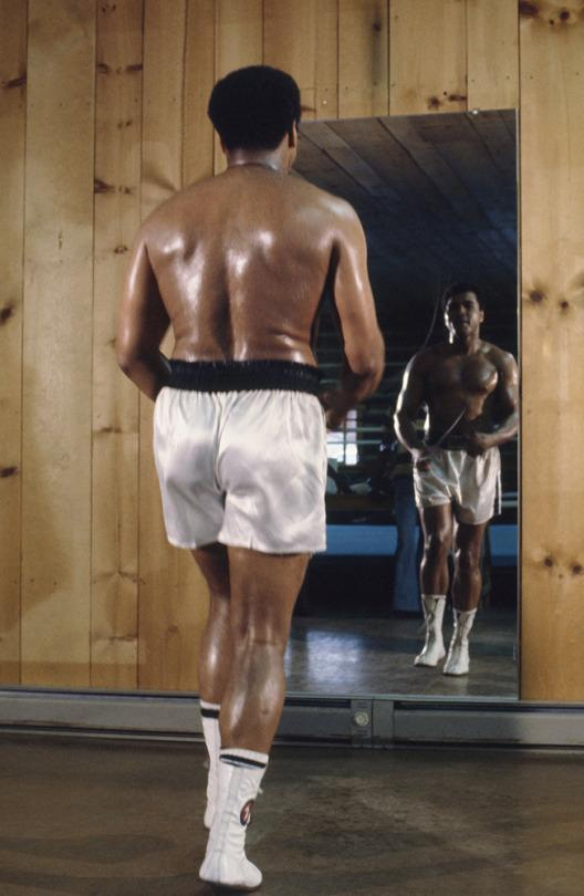 """<p>Muhammad Ali is photographed while shooting """"I Am the Greatest.""""</p>"""