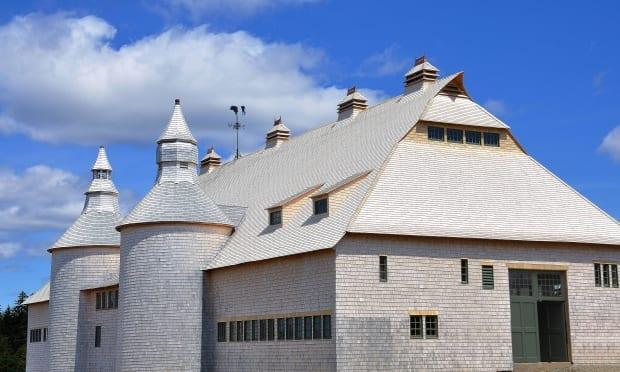 The barn is a three-storey structure that used to house horses, cows and pigs.
