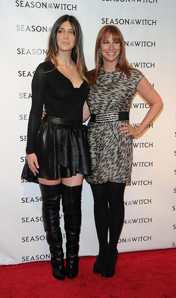 """Brittany Gastineau and Jill Zarin at the New York City premiere of <a href=""""http://movies.yahoo.com/movie/1810055815/info"""">Season of the Witch</a> on January 4, 2010."""