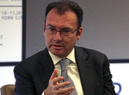 Mexico's Finance Minister Videgaray speaks during a panel discussion at the North American Energy Summit in New York