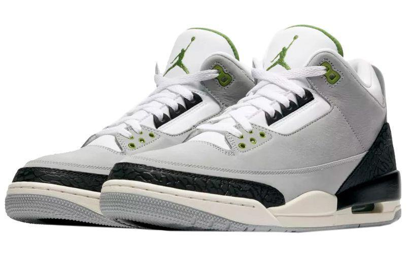 """<p><a href=""""https://www.nike.com/launch/t/air-jordan-3-air-trainer-1-light-smoke-grey-chlorophyll/"""" rel=""""nofollow noopener"""" target=""""_blank"""" data-ylk=""""slk:SHOP"""" class=""""link rapid-noclick-resp"""">SHOP</a> <em>$190, <a href=""""https://www.nike.com/launch/t/air-jordan-3-air-trainer-1-light-smoke-grey-chlorophyll/"""" rel=""""nofollow noopener"""" target=""""_blank"""" data-ylk=""""slk:nike.com"""" class=""""link rapid-noclick-resp"""">nike.com</a></em></p><p>You may recognize the colorway on this Air Jordan III from the classic Air Trainer 1 Chlorophyll. The scheme has been disseminated throughout the years on plenty of Nike silhouettes, and the Air Jordan III is the latest. The Air Trainer 1 has a similar aesthetic to the Air Jordan III (they are from the same era of sneaker design), and both were designed by Tinker Hatfield. The white, gray, and bright green lends itself well to the wide panels on the Air Jordan III. While this isn't a pure classic, it's something close.</p><p><strong>Release:</strong> 11/10</p>"""