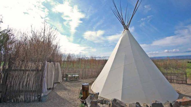A teepee at on Cherrywood's grounds. (Courtesy of Cherrywood Bed Breakfast and Barn.)