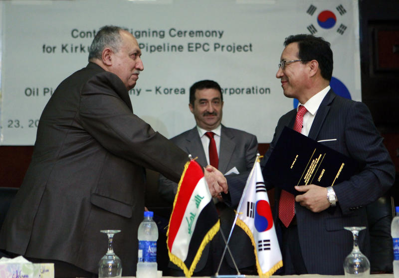 Iraq, South Korea's KOGAS ink deal on pipelines