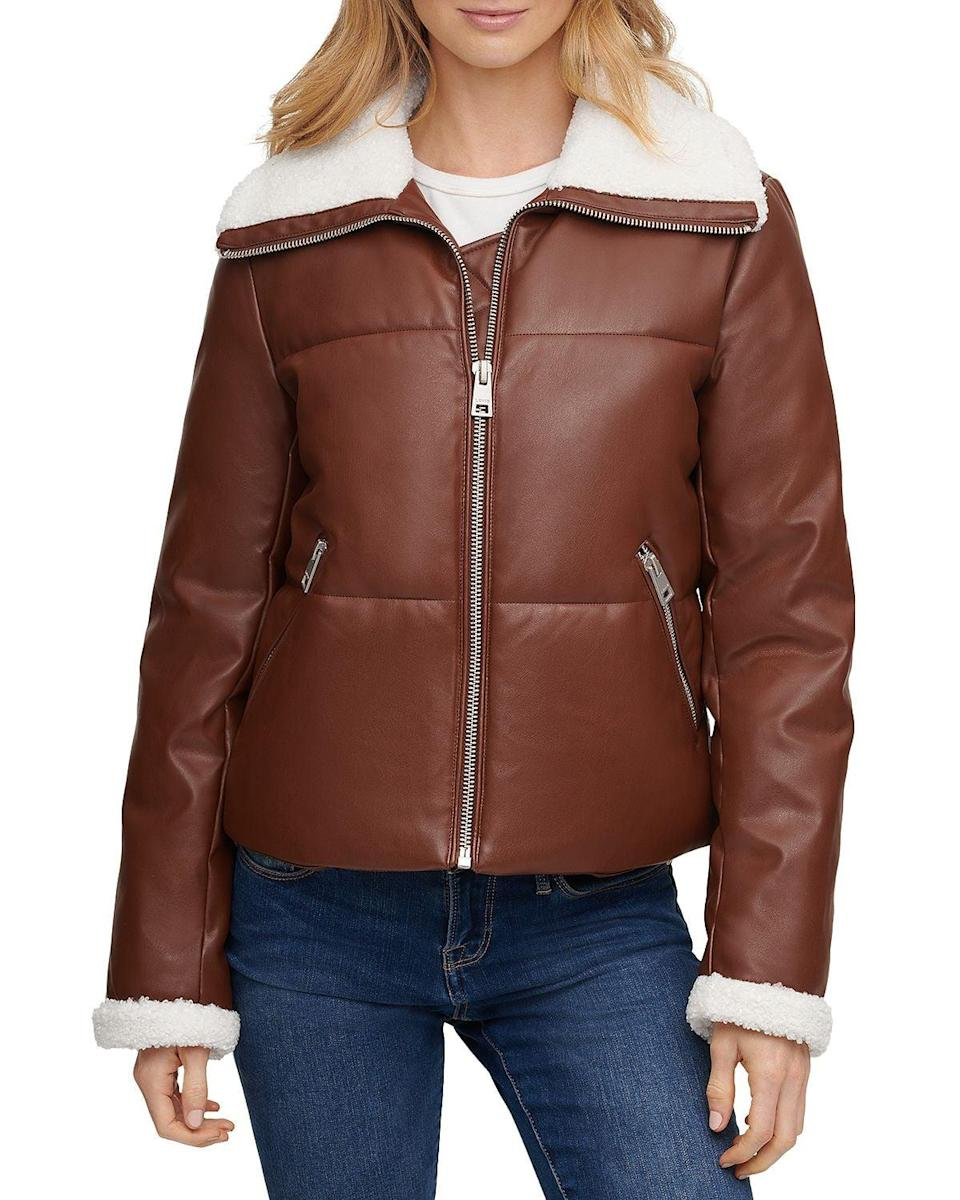 <p><span>Levi's Faux Leather &amp; Faux Shearling Quilted Jacket</span> ($60)</p>