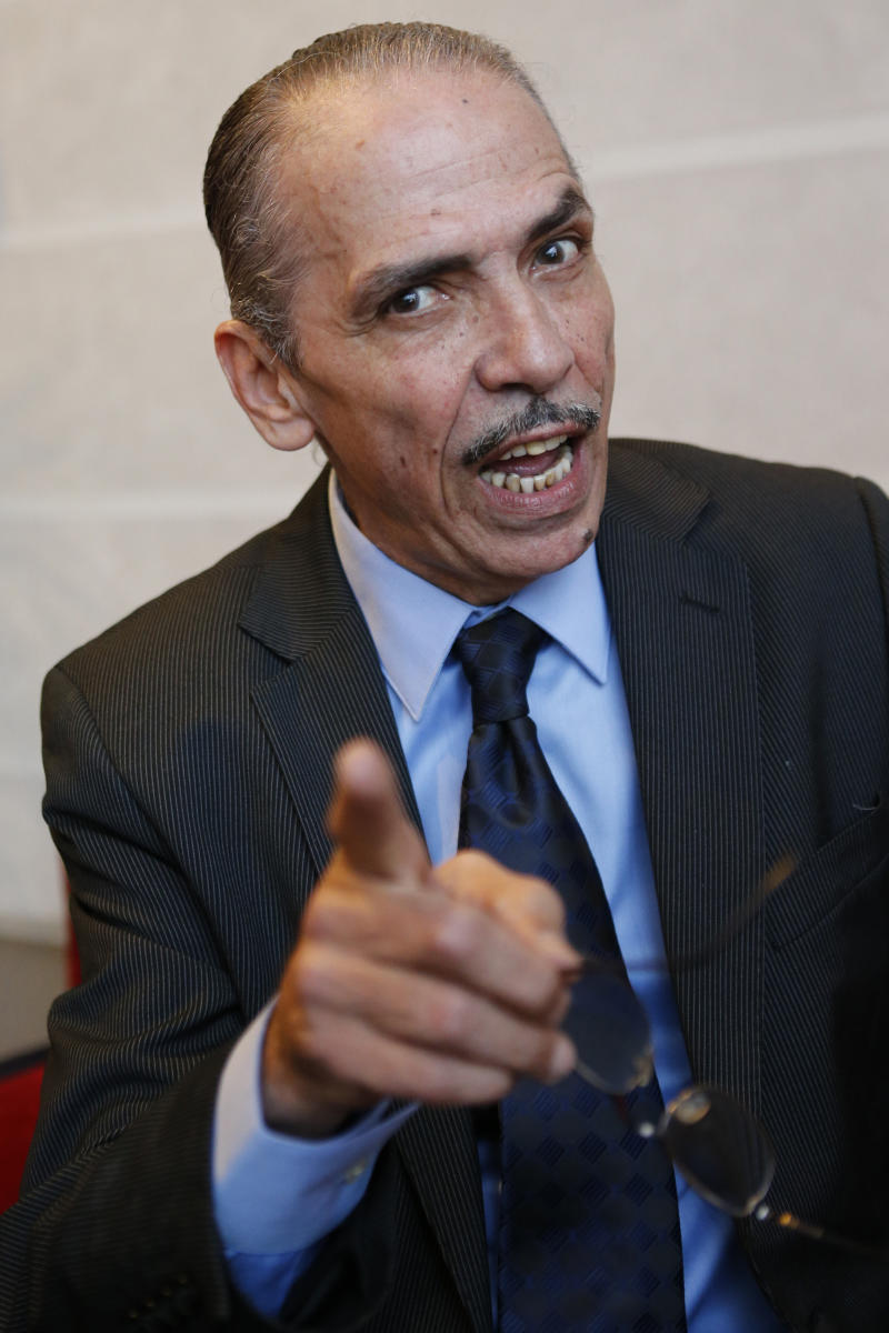 "Moroccan actor Mehdi Ouazzani poses during an interview with the Associated Press in Casablanca, Morocco Monday, April, 1, 2013. Ouazzani isn't the devil, but he has played one on TV, only he didn't realize that some thought he looked like US President Barack Obama while he was at it. Ouazzani was bemused to wake up one morning and find that his role in The History Channel's popular five-part mini-series ""The Bible"" had become the latest way for conservative commentators in the United States to needle the president. (AP Photo/Abdeljalil Bounhar)"