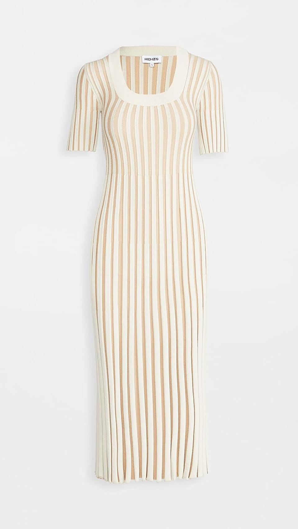 <p>This <span>Kenzo Pleated Dress</span> ($267, originally $445) will get you all the compliments.</p>