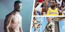 <p>You might be watching one of your favorite action movies (<em>Thor</em> or <em>Black Panther</em>, perhaps?) or kicking back watching the game when you suddenly think: <em>Damn, I wish I looked like them</em>. Although working out with your favorite celebrity might not be possible in real life, we have a solution: <em>The Men's Health</em> Train Like a Celebrity video series. Learn what your favorite leading men (and women!) are doing to build muscle, stay in shape, and get their bodies into peak condition—for the big screen, the playing field, and beyond. </p>
