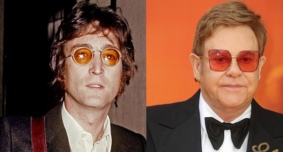 Elton John has spoken about his late friend John Lennon on what would've been his 80th birthday. (Photo by Vinnie Zuffante/Michael Ochs Archives/Getty Images. Photo by Chris Jackson/Getty Images)