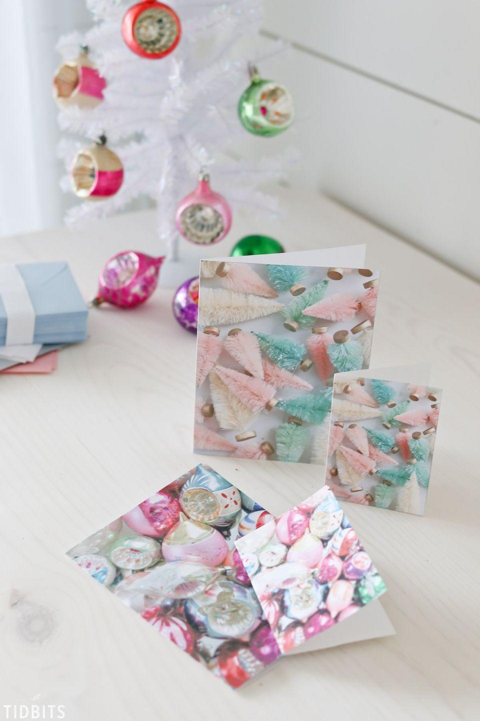 """<p>If easy as can be is your signature style, you'll love these one-step printable cards. </p><p><em>Get the tutorial at <a href=""""https://www.tidbits-cami.com/free-printable-colorful-christmas-cards/"""" rel=""""nofollow noopener"""" target=""""_blank"""" data-ylk=""""slk:Tidbits"""" class=""""link rapid-noclick-resp"""">Tidbits</a>.</em></p>"""