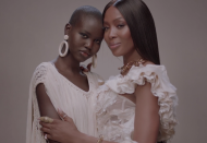 """<p>The Sudanese model also appears during the """"Brown Skin Girl"""" segment alongside Campbell.</p>"""