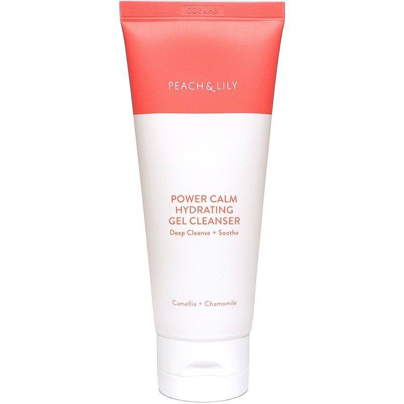 """<p>The """"power"""" in Peach & Lily Power Calm Hydrating Gel Cleanser refers to two things: how thoroughly it cleanses and how deeply soothed it leaves skin. It's full of key calming ingredients <a href=""""https://www.allure.com/story/what-is-cica-ingredient-korean-beauty-skin-care?mbid=synd_yahoo_rss"""" rel=""""nofollow noopener"""" target=""""_blank"""" data-ylk=""""slk:like cica"""" class=""""link rapid-noclick-resp"""">like cica</a>, chamomile, and camelia to keep skin happy while the gel-to-foam formula lifts dirty out of pores without stripping moisture.</p> <p><strong>$28</strong> (<a href=""""https://shop-links.co/1706587414960318577"""" rel=""""nofollow noopener"""" target=""""_blank"""" data-ylk=""""slk:Shop Now"""" class=""""link rapid-noclick-resp"""">Shop Now</a>)</p>"""