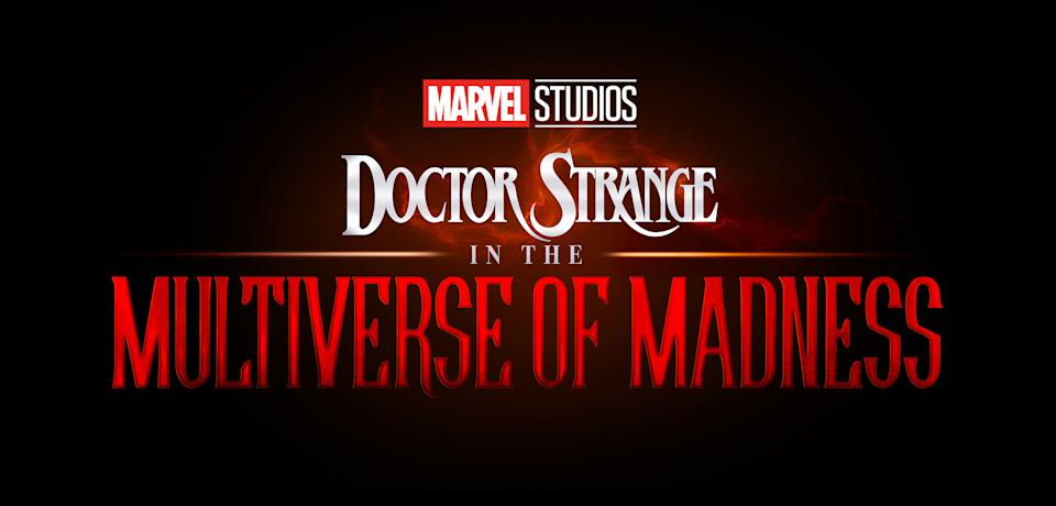 The title treatment for Doctor Strange in the Multiverse of Madness (Disney)