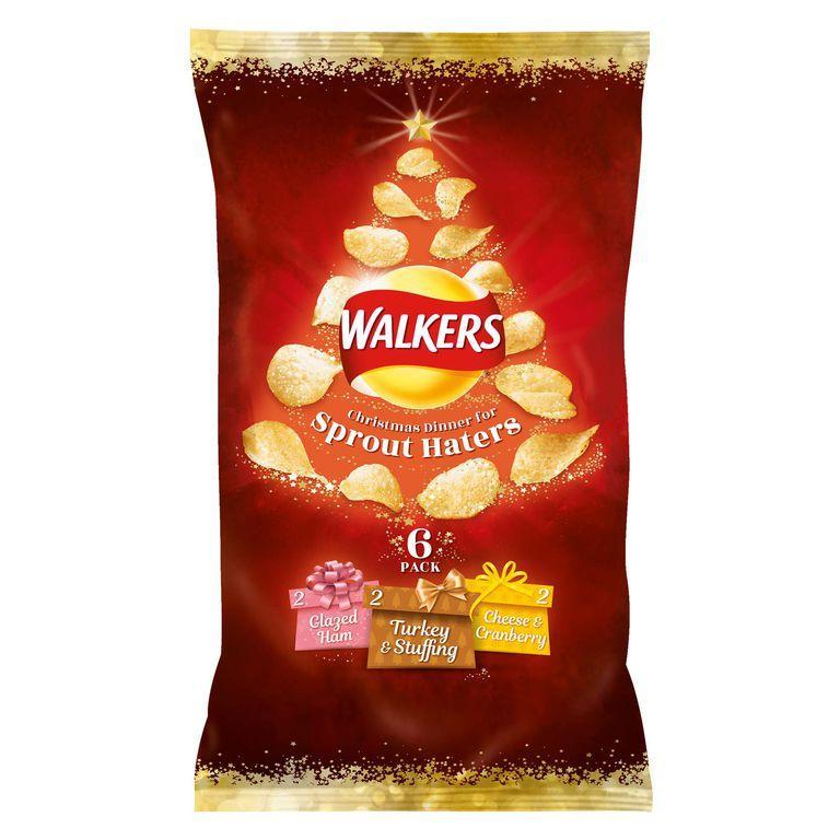 For those of us who can't stand Brussels sprouts, Walkers has our back this festive season [Photo: Walkers]