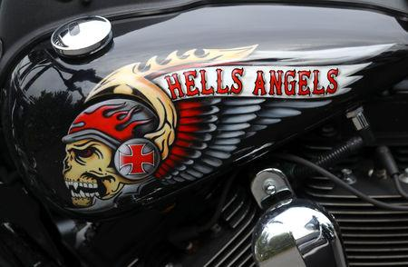 FILE PHOTO: A decorated tank of a Harley Davidson motorbike is pictured at the funeral of a Hell Angels chapter president in Giessen, Germany