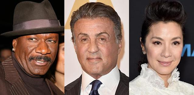 Ving Rhames, Sylvester Stallone, and Michelle Yeoh play Ravager-style Guardians in <em>Vol. 2.</em>(Photo: Getty Images)