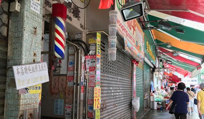 Several shops in Chun Yeung Street are closed today. Photo: Minnie Chan