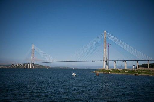 View of the world's longest cable-stayed suspension bridge, the Russky Island bridge, on June 26, 2012, in Vladivostok. Russia on Monday unveiled the world's longest cable-stayed bridge as it put the finishing touches on a troubled multi-billion investment aimed at revitalising the country's distant Far East