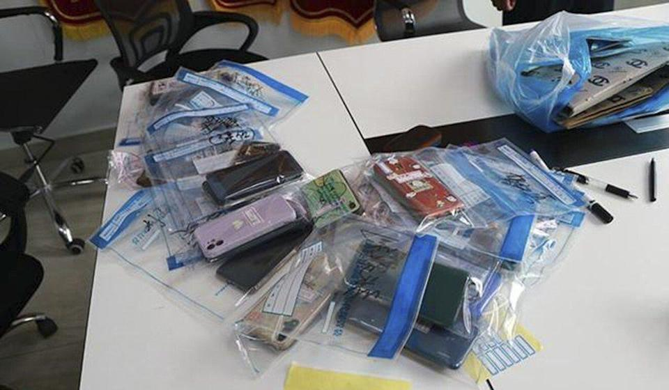 Police confiscated cellphones as potential evidence in the case. Photo: Handout