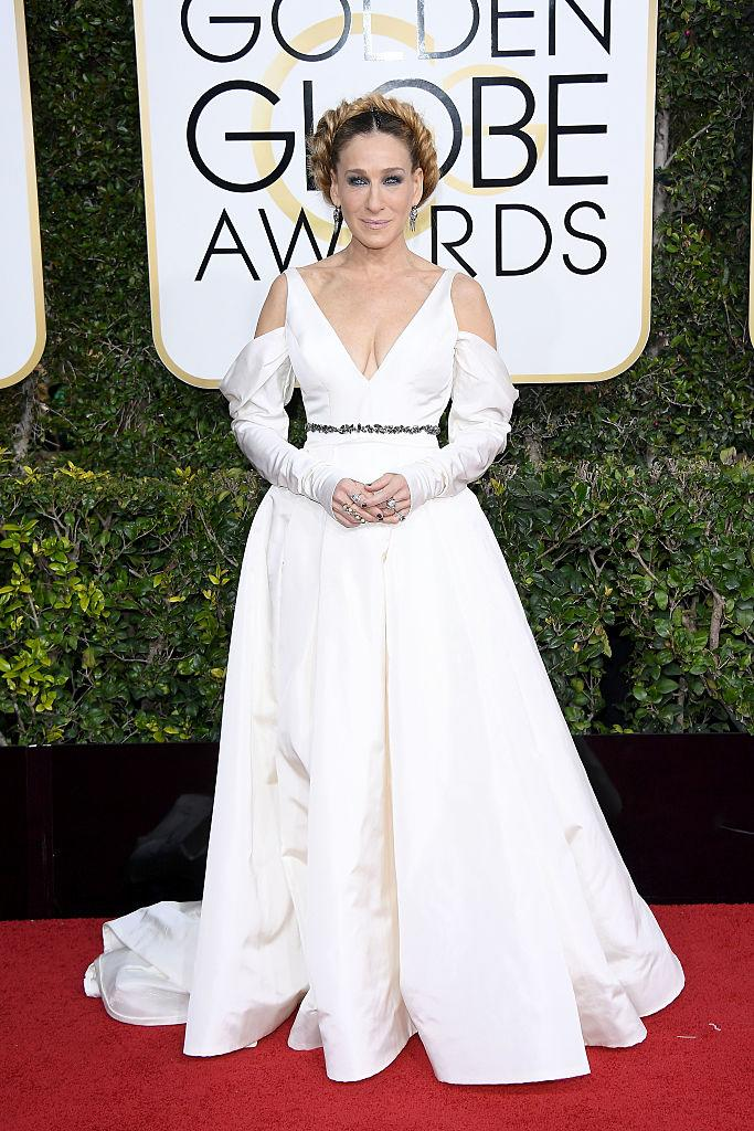 Sarah Jessica Parker in Vera Wang. (Photo: Getty Images)