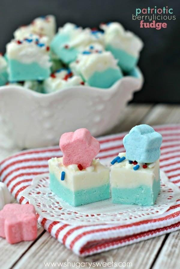 """<p>Yum! This <a href=""""http://www.shugarysweets.com/2014/06/patriotic-berrylicious-fudge?utm_source=feedly&amp;utm_medium=rss&amp;utm_campaign=patriotic-berrylicious-fudge"""" class=""""link rapid-noclick-resp"""" rel=""""nofollow noopener"""" target=""""_blank"""" data-ylk=""""slk:Patriotic Berrylicious Fudge"""">Patriotic Berrylicious Fudge</a> is a no-fuss sweet treat that your family won't be able to keep away from. </p>"""