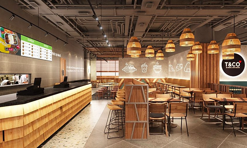 The airline has opened a fast-food style restaurant in a mall in Kuala Lumpur [Photo: Santan/AirAsia]