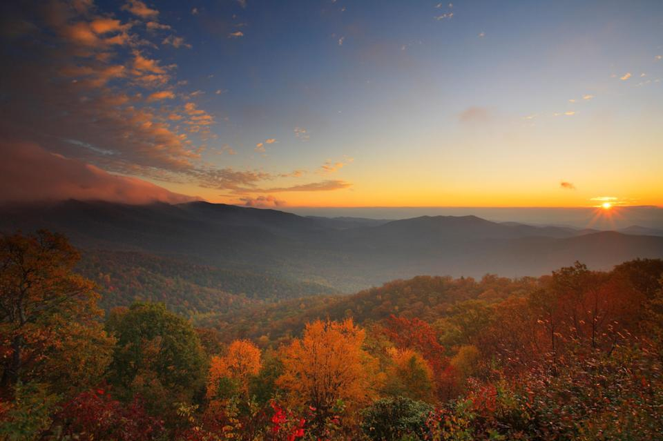 """<p><strong>Best camping in North Carolina:</strong> Mount Pisgah Campground</p> <p>Spanning 469 miles from the Great Smoky Mountains to Shenandoah, the <a href=""""https://www.cntraveler.com/stories/2016-05-12/blue-ridge-parkway?mbid=synd_yahoo_rss"""" rel=""""nofollow noopener"""" target=""""_blank"""" data-ylk=""""slk:Blue Ridge Parkway"""" class=""""link rapid-noclick-resp"""">Blue Ridge Parkway</a> is one of the most scenic roads in the country. Situated on its southern end near Asheville is Mount Pisgah, a breezy high-altitude respite from the summer heat. Don't miss the three-mile trek to its summit, followed up by a burger and local brew at the Pisgah Inn.</p>"""