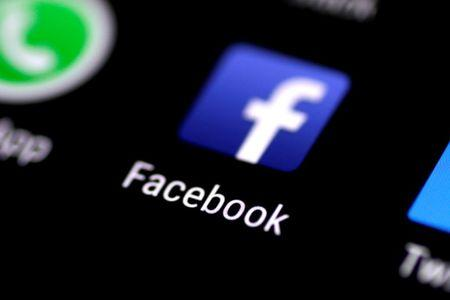 The Facebook application is seen on a phone screen
