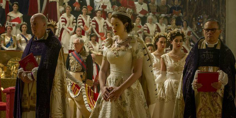 <p>We're taking a look at behind-the-scenes details and fun facts about the regal hit Netflix show, <em>The Crown.</em> From pay disparity disputes, to John Lithgow's problematic height when playing Winston Churchill, here's everything you need to know about the popular series based on the life of Queen Elizabeth II.</p>