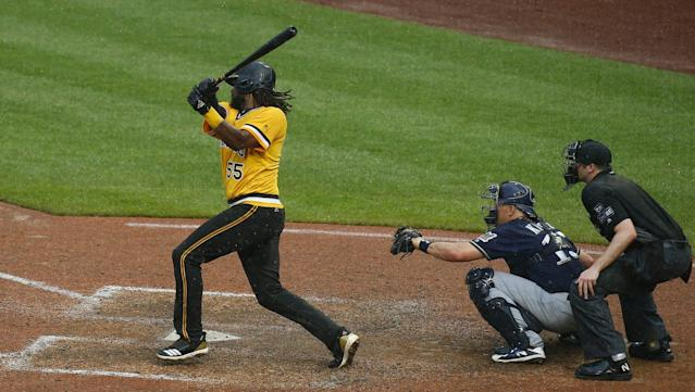 Josh Bell hit a two-run, walkoff double in extra innings in a driving rainstorm in a five-game series. You, know, the usual.