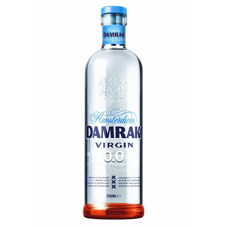 """<p>This Amsterdam gin brand made quite the splash with alcohol-free gin, aptly named Virgin 0.0. Two years in the making, this mimics the beloved botanicals and citrus of the brand's original spirit, just sans hangover. </p> <p><strong>Buy It!</strong> $29.99, <a href=""""https://drinknolow.com/collections/shop-all-products/products/virgin-0-0"""" rel=""""nofollow noopener"""" target=""""_blank"""" data-ylk=""""slk:drinknolow.com"""" class=""""link rapid-noclick-resp"""">drinknolow.com</a></p>"""