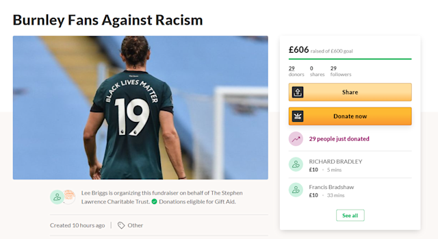 The page has already surpassed its initial £600 target (GoFundMe/Screengrab)
