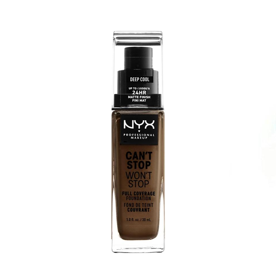 """I first bought this foundation in 2018 when NYX announced their collaboration with Alissa Ashley. I had really oily skin back then, and this foundation was the only one that looked great throughout the whole day. I was also able to find multiple shades that matched my winter and summer skin tone. I think I wore this foundation for a year straight. Since then, I've changed my skincare routine, and I'm more on the combination side of the skin spectrum, but this foundation is still the go-to when it comes to a foundation that can last all day that won't break the bank. —<em>Khaliha Hawkins, producer</em> $15, NYX Professional Makeup. <a href=""""https://shop-links.co/1734689542800336973"""" rel=""""nofollow noopener"""" target=""""_blank"""" data-ylk=""""slk:Get it now!"""" class=""""link rapid-noclick-resp"""">Get it now!</a>"""