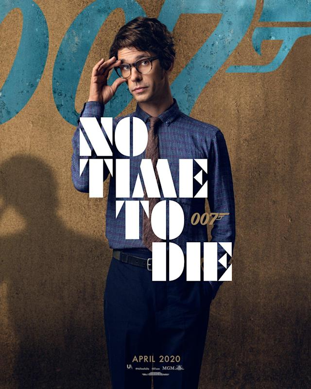 Ben Whishaw looks suitably nerdy as Q, appearing for the third time as the MI6 quartermaster who joined the franchise in 2012's <em>Skyfall</em>. (Universal Pictures)