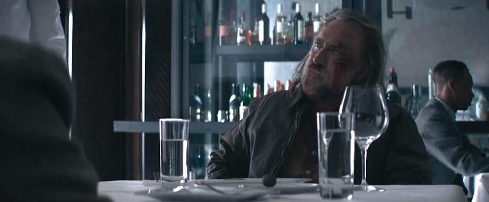 Rob (Nicolas Cage) visits an upscale eatery in