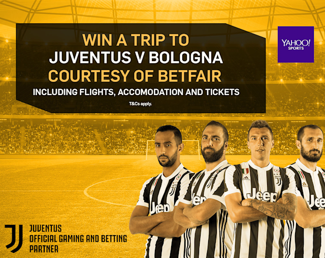 Win hospitality tickets, flights and accommodation for Juventus v Bologna courtesy of Betfair