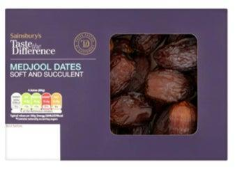 <p>Sainsbury's Taste the Difference Medjool dates with supplier code K0014 EW on label may have been contaminated with Hepatitis A</p> (Sainsbury's)