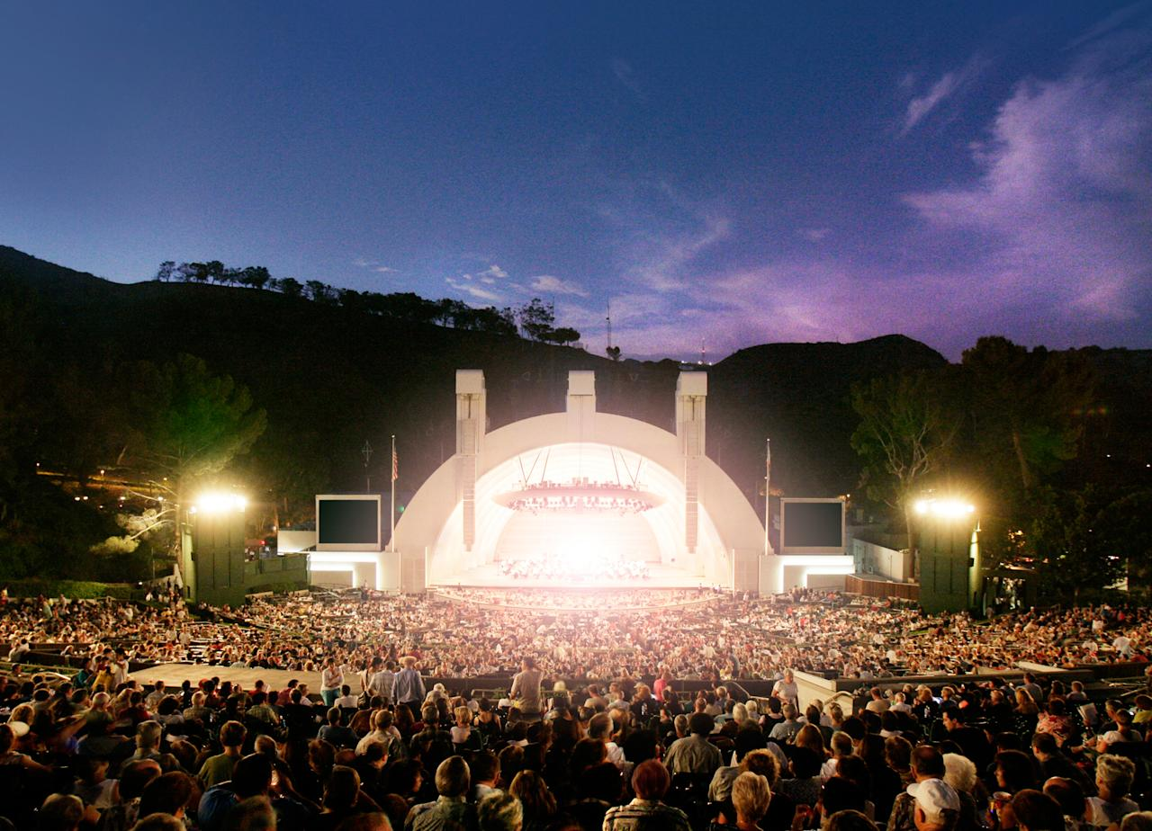 The concert for the Clinton Foundation will take place at the famous Hollywood Bowl on Saturday, October 15, 2011. (Courtesy of Los Angeles Philharmonic)