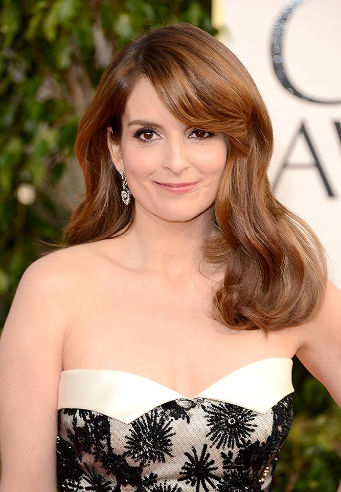 Tina Fey arrives at the 70th Annual Golden Globe Awards at the Beverly Hilton in Beverly Hills, CA on January 13, 2013.