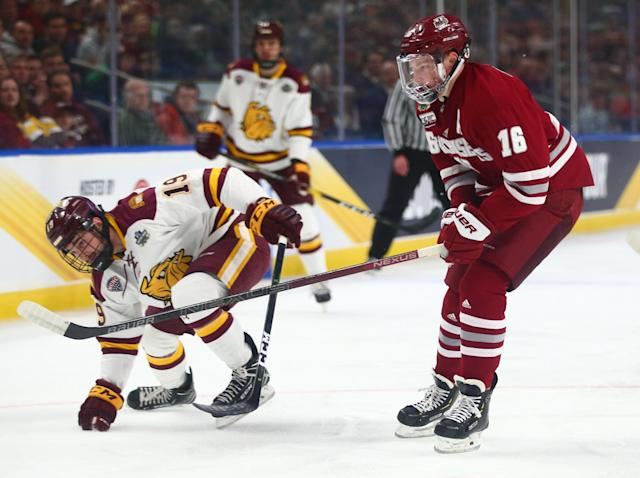 On April 13, 2019, Makar and his Minutemen teammates tried to topple Minnesota Duluth in the NCAA championship. The Bulldogs defended the national title with a 3-0 win.