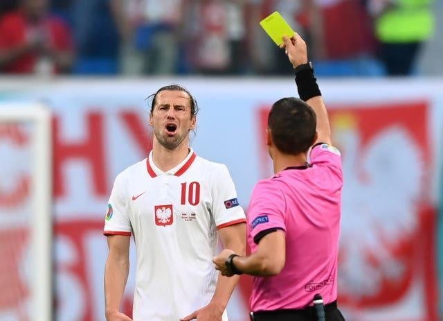 Grzegorz Krychowiak's second yellow card proved costly for Poland