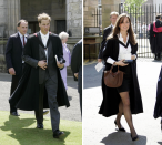 <p>William and Kate meet at St Andrews University. The royal is studying geography while Kate embarks on a degree in art history.<br><i>[Photo: PA]</i> </p>