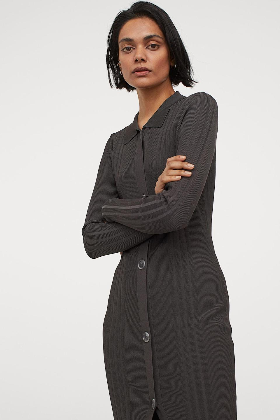 <p>This <span>H&amp;M Rib-Knit Dress</span> ($38, originally $60) will help you go from the office to happy hour in style.</p>