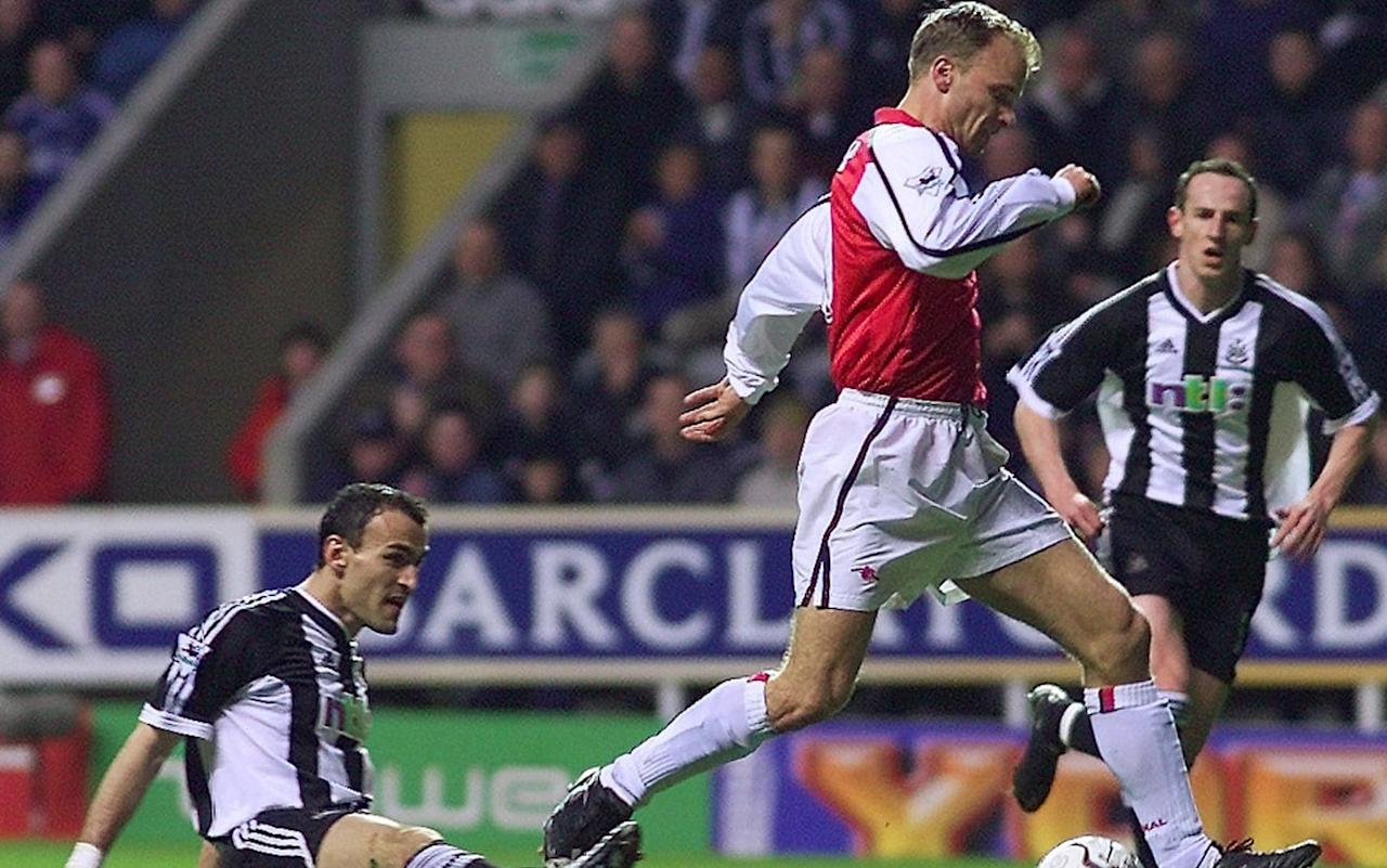 "Dennis Bergkamp's elegant turn and finish at St James' Park has been voted the best goal in 25 years of Premier League football.  More than half a million fans voted in a BBC Sport poll to mark Tuesday's anniversary, and the former Arsenal man edged out Tony Yeboah's spectacular volley at Wimbledon by just two percent of the vote. Five goals were shortlisted from five, five-year eras between 1992 and 2017.  Wayne Rooney's acrobatic overhead kick in Manchester United's 2011 victory over neighbours Manchester City came third, followed by Thierry Henry's slalom through Tottenham in 2002 and Jack Wilshere's memorable finish to an exquisite piece of Arsenal combination play against Norwich in 2013.  Fans will be treated on Tuesday night to re-run of the Premier League era's first Match of the Day of the Premier League era, hosted by Des Lynam alongside Gary Lineker and Alan Hansen, on BBC Red Button and the BBC Sport website at 10pm.  For the even more committed, Sheffield United v Manchester United, the game in which the first Premier League goal was scored, will be replayed in its entirety online with live text commentary and goal-flashes from the 3pm kick-offs from 1992.  Bergkamp's former teammate Thierry Henry came third in the poll Credit: Getty Images Bergkamp's goal arguably surpassed previous masterpieces against Leicester City and Argentina, gathering a Robert Pires pass with his back to goal and turning Nikos Dabizas with one flick of his left foot before sliding past Shay Given with his right.   ""I want the pass from Pires to my feet, but it comes behind me,"" Bergkamp later wrote in his autobiography Stillness and Speed. ""It's not what I expect, so I think: I need another idea here. ""It's the all-or-nothing part of my game. I could have gone for the safe way, control the ball and knock it back. Or maybe turn. But I know the defender is stepping in, and the pace of the ball can help me. Ten yards before the ball arrived I made my decision: I'm going to turn him."" Pick your free Telegraph Fantasy Football team now and start scoring from the next kick-off >>"